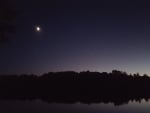 Moon and Star over Lake William