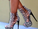 Black And White Platform Stiletto
