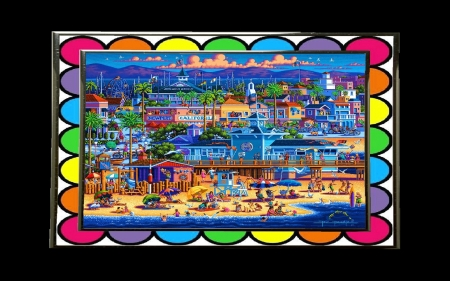 Newport-Beach by artist Eric Dowdle - 1, 2, 3, 4