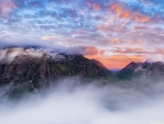Misty Mountain Sunset