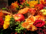 Autumn Flowers and Apples