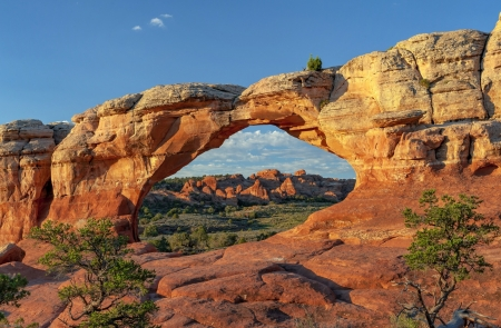 Sunshine Over Arches National Park Deserts Nature