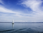 Yacht on Lake Chiemsee
