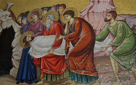 Entombment of Christ - saints, Christ, Jesus, tomb, lamentation, icon