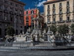 Neptune's Fountain in Naples, Italy