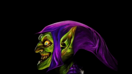 Green Goblin - creepy, goblin, green, hat, creature