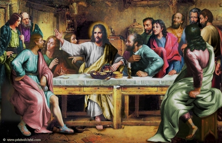 Last supper of the lord - christ, jesus, gospel, supper, god