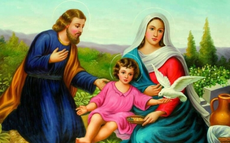 Holy family - mary, god, christ, family, jesus, virgin