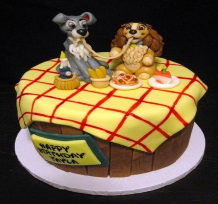 Lady And Tramp Cake - Cake, Lady, Tramp, Food