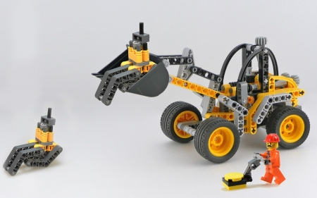 Lego Excavator - toy, excavator, Lego, construction game