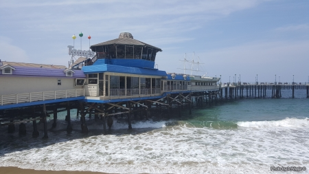 Redondo Beach Pier - Water, Sky, California, Ocean, Beach, Pier, Waves, Redondo