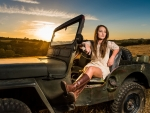 Cowgirl & Jeep