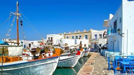 Greek Island Other Boats Background Wallpapers On