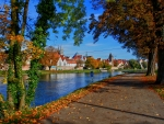Autumn at Neu-Ulm, Germany