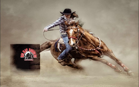 Barrel Racing Cowgirl . . - cowgirl, boots, racing, barrels, horses, outdoors, brunettes, rodeo, western