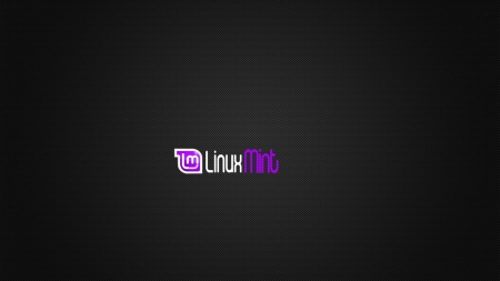 Carbon Mint Purple - mint, linux, logo, dark