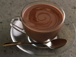 Brown Cocoa Glass With Spoon