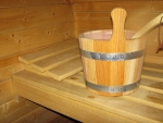 Wooden Bucket in Sauna