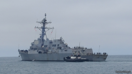 USS William P. Lawrence (DDG 110) - Lawrence, Guided, Hueneme, William, Destroyer, Sky, Ocean, Water, Seabee, California, Port, Missile