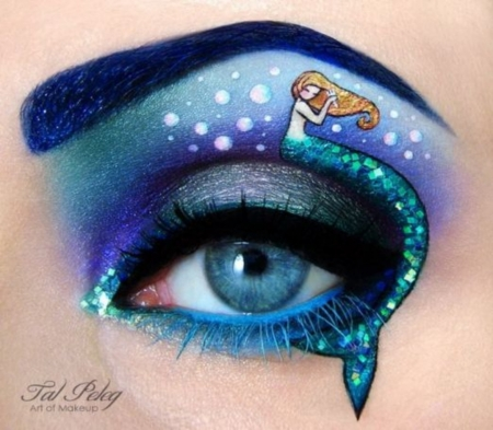 Mermaid Eye Art - Art, Blue Eyes, Eye, Mermaid