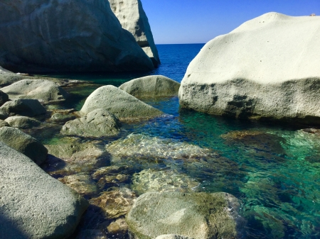Beach Rocks Ischia Beaches Nature Background Wallpapers