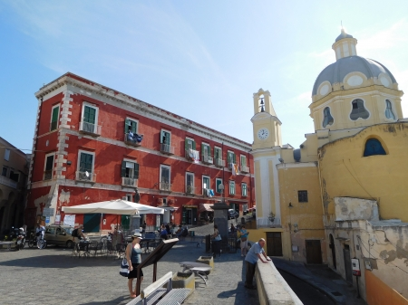 Piazza Italy - Piazza, Summer, Church, Italy, Houses