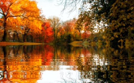 Autumn Rivers - Rivers, Autumn, Colorful, Reflection, Water, Trees