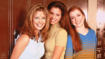Buffy, Cordelia, & Willow - celebrity, cool, TV Show, actress, model, people, beauty, fun