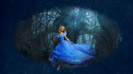 Cinderella - art, fantasy, girl, wallpaper, digital, cinderella, woman, princess, pretty