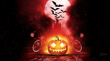 Halloween Jack O - October, bats, pumpkin, full moon, Halloween, Firefox theme, fall, autumn, lights, jack-o-lantern, leaves
