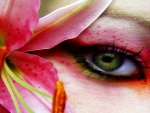 Eye Art And Flower