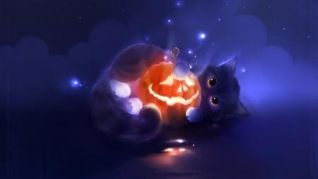 Halloween Cat Cats Animals Background Wallpapers On Desktop