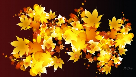 Golden Fall - maple, yellow, nature, Firefox theme, fall, autumn, gold, leaves, bright