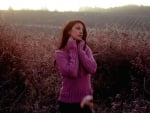 Autumn Woman In Field