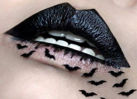 Black Bat Lip Art - Lips, BLack, Photo Album, Mouth, Bats, Art