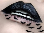 Black Bat Lip Art