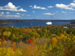 Canada & New England Cruise Port in Fall