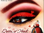 Queen Of Hearts Eye Art