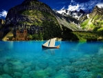 Boat on Crystal Clear Lake