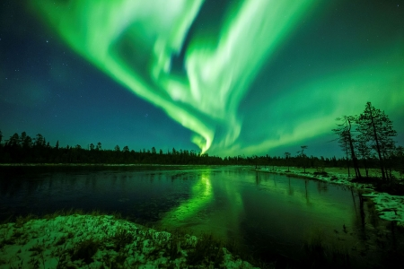 Northern lights in Finland - Forces of