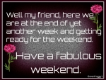 FABULOUS WEEKEND
