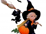 Cartoon Halloween Baby Witch