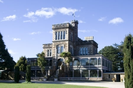Dunedin---Larnach-Castle-Nz - dunedin, new zealand, south, kiwi, island