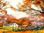 Farm House in Fall