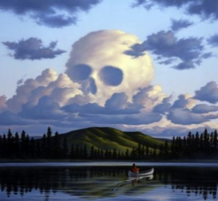 Skull Clouds In The Sky - Fantasy & Abstract Background Wallpapers on  Desktop Nexus (Image 2432716)