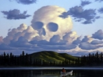 Skull Clouds In The Sky