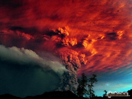 volcano - force of nature, colors, art, eruption