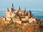 Hohenzollern Castle in Autumn
