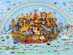 Childerns  Noahs Ark Art