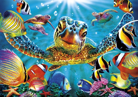 Hd 3d Sea Turtle - high, sea, 3d, def, puzzle, turtle